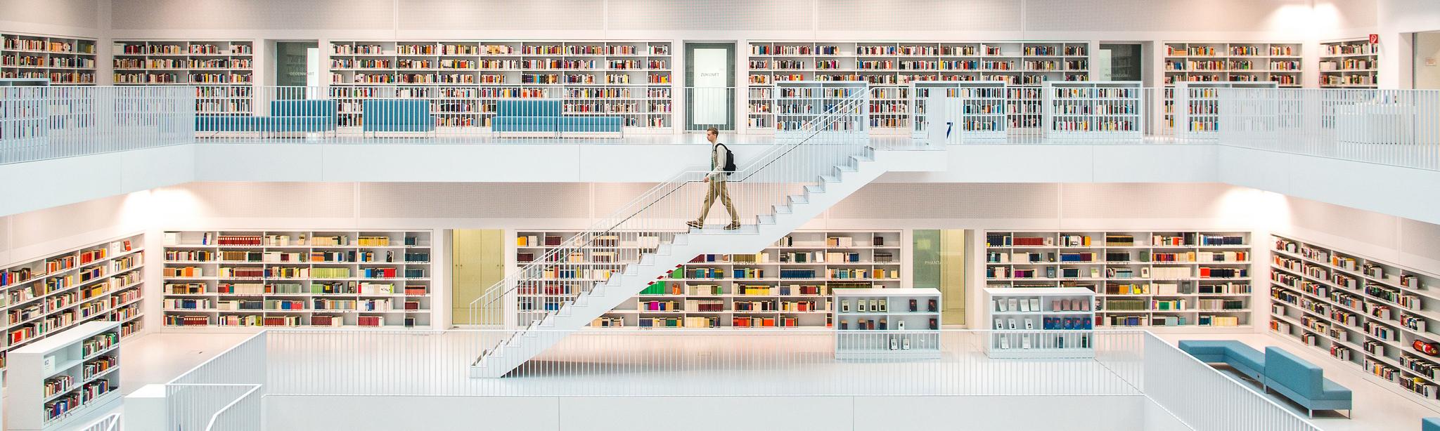 Illustration : une bibliothèque (Thomas Leuthard sur Flickr)