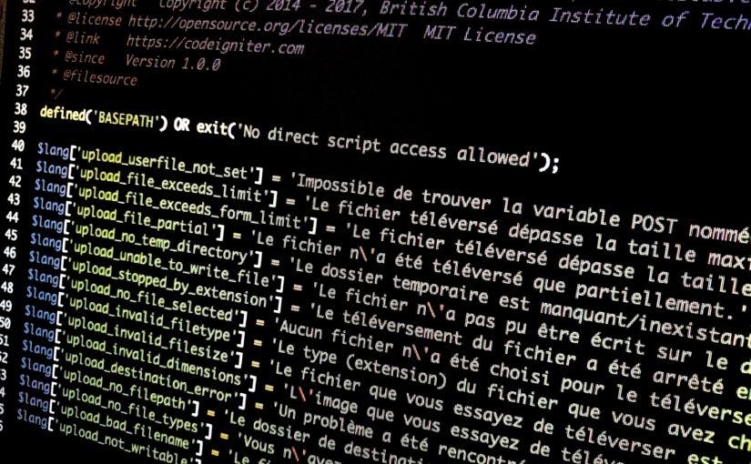 Passer CodeIgniter (3.1.5 et suivants) en français