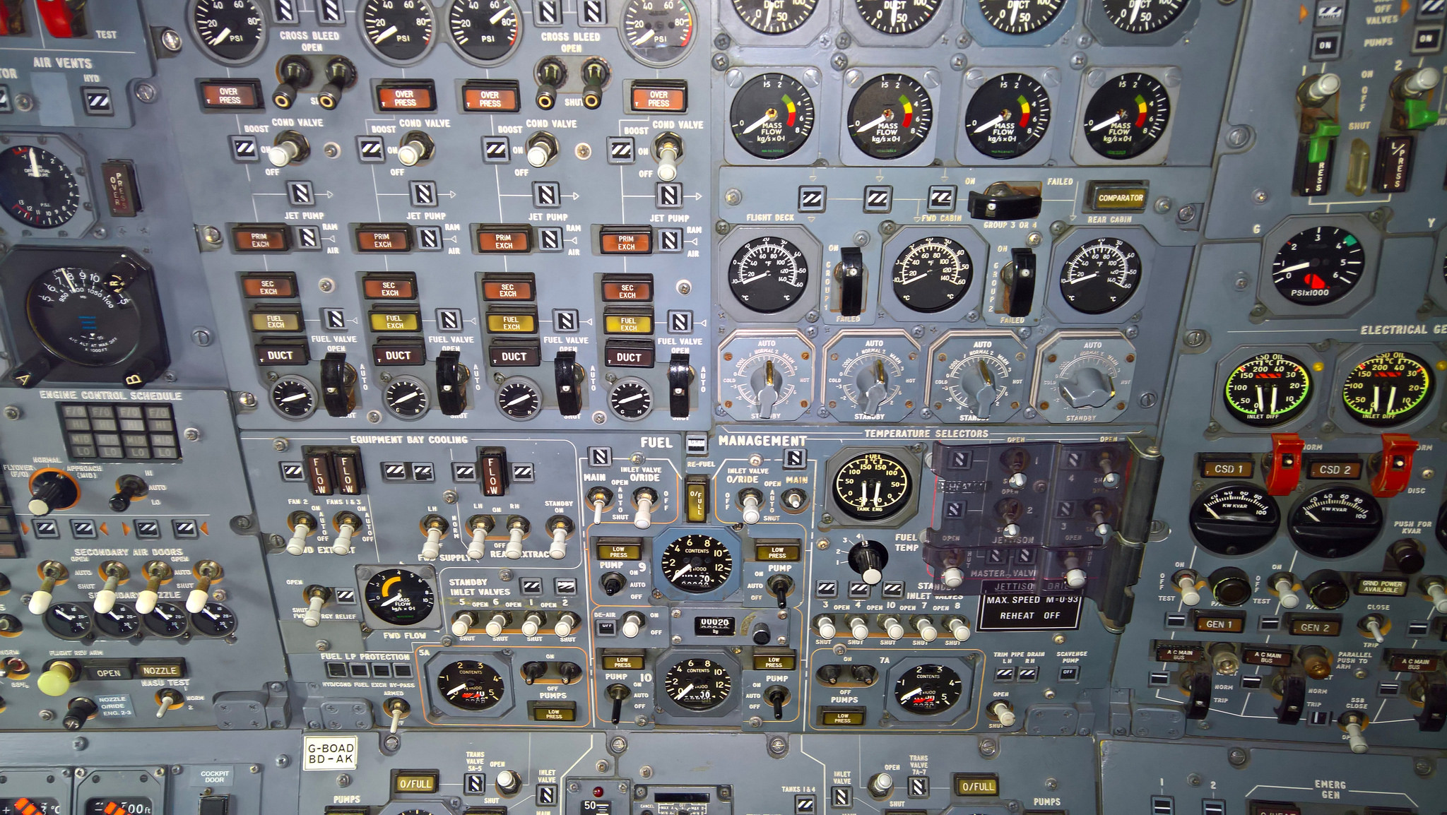 Illustration : un cockpit de Concorde (Rob Alter sur Flickr)